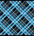 blue tartan plaid seamless pattern textured vector image vector image