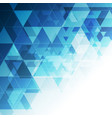 blue triangles abstract technology low poly vector image vector image