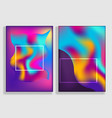 bright abstract vibrant gradient backgrounds set vector image