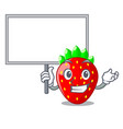 bring board character strawberry sweet in store vector image