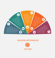 business chart modern infographic template from vector image vector image