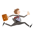 Business man late for meeting or appointment vector image vector image