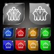 business team icon sign Set of ten colorful vector image vector image