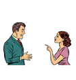 business woman talking to businessman vector image