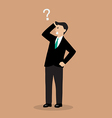 Businessman confusing vector image vector image