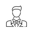 businessman thin line icon vector image vector image