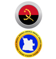 button as a symbol ANGOLA vector image vector image
