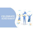 celebrate achievement concept for web vector image