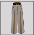 classic beige pants oversize fashion vector image vector image