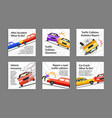 collection car crash post with place for text vector image vector image