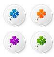 color four leaf clover icon isolated on white vector image vector image