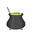 color witch pot with potion in cartoon style vector image vector image