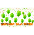 congratulations background with balloons and vector image vector image