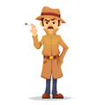 detective character design cartoon flat style vector image