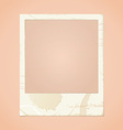 dirty photo frame vector image vector image