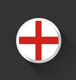 england national flag on dark background vector image vector image