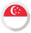 flag singapore round shape icon on white vector image