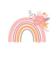 floral rainbow pink simple bagirl vector image vector image