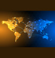 global network connection background vector image vector image