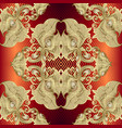 gold baroque 3d seamless pattern striped zigzag vector image vector image