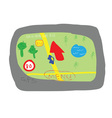 GPS navigation device cartoon style vector image vector image
