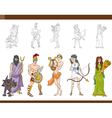 greek gods set vector image vector image