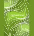 green leaflet poster cover flyer paperback vector image vector image