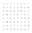 Icon ThinLine Web vector image