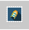 Inflatable boat flat stamp Summer Vacation vector image vector image