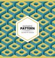Isometric pattern design vector image