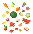 juice soft drink cup with a fruits vector image