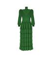 long green dress vector image vector image