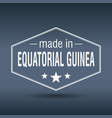 made in equatorial guinea vector image vector image