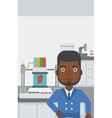 Man with three D printer vector image
