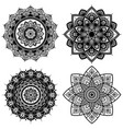 mandala set indian antistress medallion abstract vector image vector image