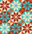 Mosaic tile colorful pattern in patchwork style vector image vector image