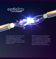 optic fibers connection vector image