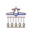 pesticides rgb color icon vector image vector image