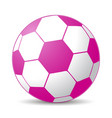 pink soccer ball vector image vector image
