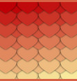red and yellow hearts pattern vector image vector image