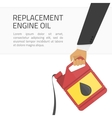 Replacement engine oil banner vector image vector image