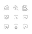 search engine optimization line icons on white vector image vector image