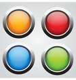 set 4 glass buttons vector image vector image