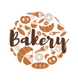 set bakery and sweets icons icons vector image vector image