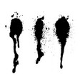 set of dark ink splashes vector image vector image