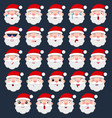 set of santa emoji vector image