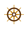 Ship Wheel Isolated on White vector image vector image