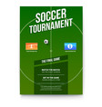 soccer football poster with text design template vector image vector image