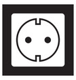 socket icon vector image vector image