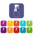 spray icons set vector image vector image